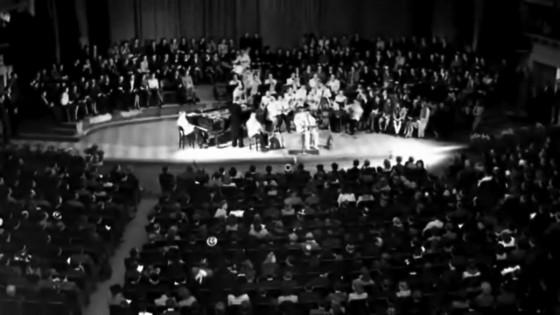 1942年ブリュッセルにて、DjangoとStan Brenders楽団。