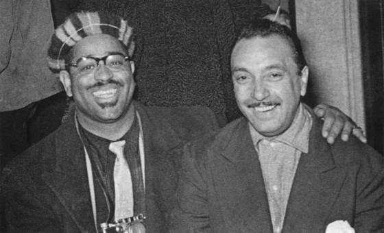 1952年ブリュッセル、DjangoとDizzy Gillespie。